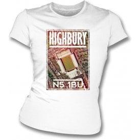 Highbury N5 1BU (Arsenal) Womens Slimfit T-Shirt