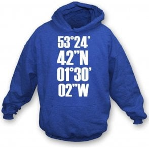 Hillsborough Coordinates (Sheffield Wednesday) Kids Hooded Sweatshirt