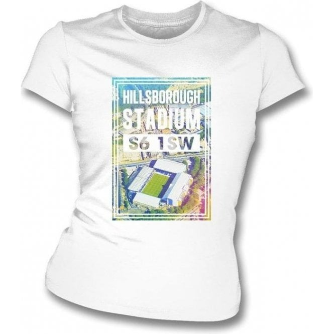 Hillsborough Stadium S6 1SW (Sheffield Wednesday) Women's Slim Fit T-shirt