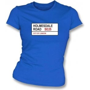 Holmesdale Road SE25 Women's Slimfit T-Shirt (Crystal Palace)