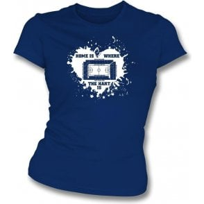 Home Is Where The Hart Is (Spurs) Womens Slim Fit T-Shirt