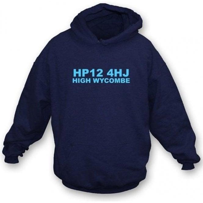HP12 4HJ High Wycombe Hooded Sweatshirt (Wycombe Wanderers)