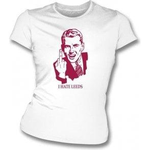 I Hate Leeds Women's Slimfit T-shirt (Bradford City)