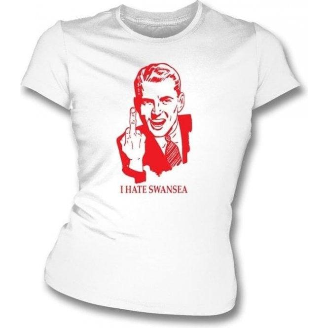 I Hate Swansea Women's Slimfit T-shirt (Cardiff City)