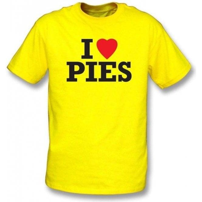 I Love Pies t-shirt
