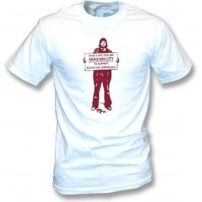 football t shirt bradford keep the faith