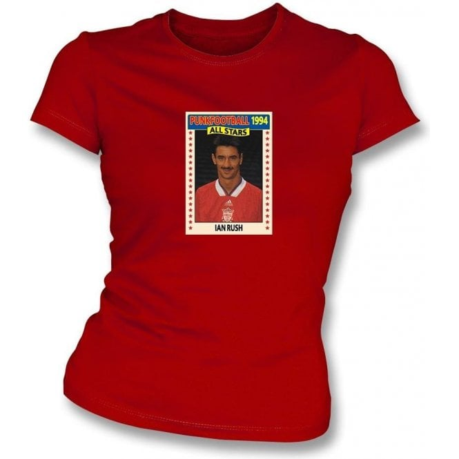 Ian Rush 1994 (Liverpool) Red Women's Slimfit T-Shirt