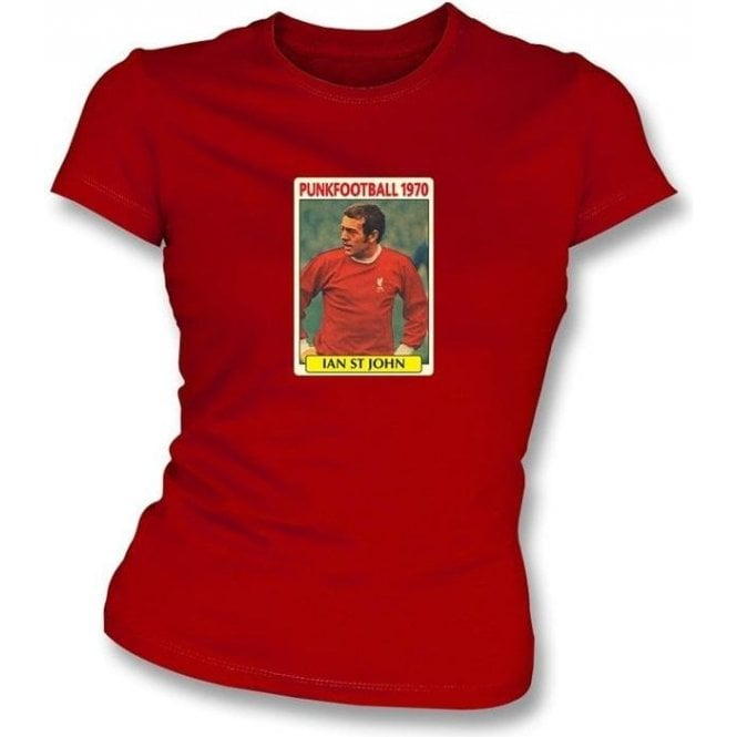 Ian St John 1970 (Liverpool) Red Women's Slimfit T-Shirt