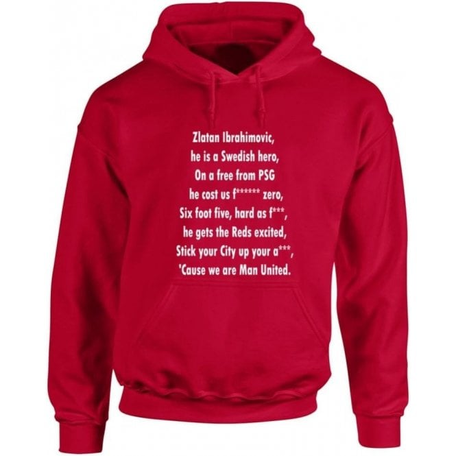 Ibrahimovic Is A Swedish Hero (Manchester United) Hooded Sweatshirt
