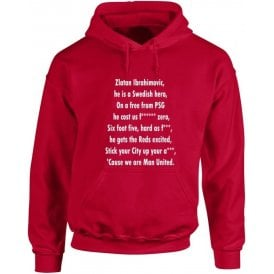 Ibrahimovic Is A Swedish Hero (Manchester United) Hooded Sweatshirt