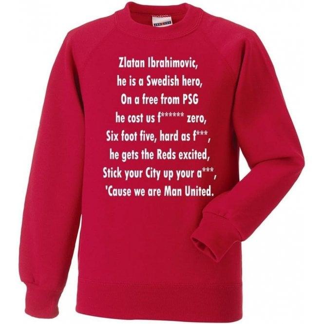 Ibrahimovic Is A Swedish Hero (Manchester United) Sweatshirt