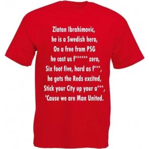 Ibrahimovic Is A Swedish Hero (Manchester United) T-Shirt