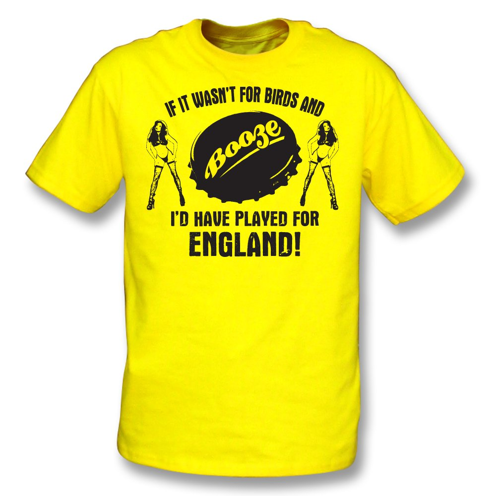Played For CRAWLEY Mens Football T-Shirt If It Wasn`t For Birds /& Booze.