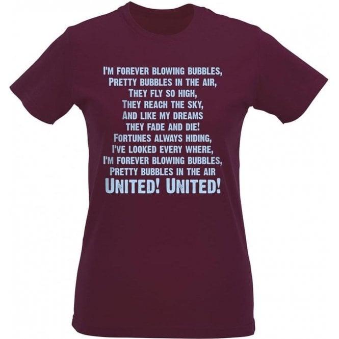 I'm Forever Blowing Bubbles Womens Slim Fit T-Shirt (West Ham)