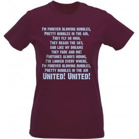 I'm Forever Blowing Bubbles Womens Slim Fit T-Shirt (West Ham)