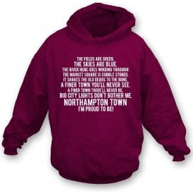 I'm Proud To Be (Northampton Town) Kids Hooded Sweatshirt