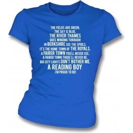 I'm Proud To Be (Reading) Womens Slim Fit T-Shirt
