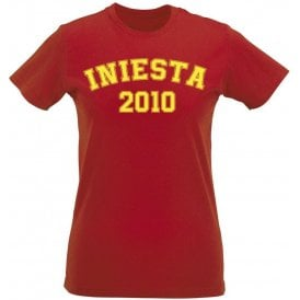 Iniesta 2010 (Spain) Womens Slim Fit T-Shirt