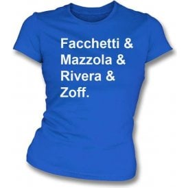 Italy World Cup 1974 Womens Slim Fit T-Shirt