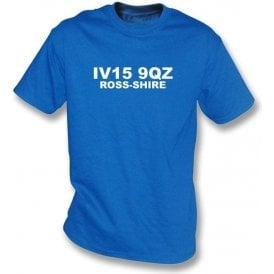 IV15 9QZ Ross-shire T-Shirt (Ross County)