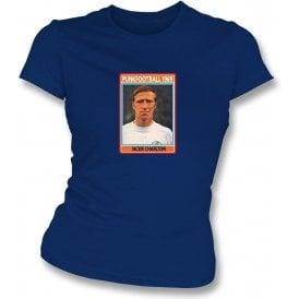 Jackie Charlton 1969 (Leeds United) Navy Women's Slimfit T-Shirt
