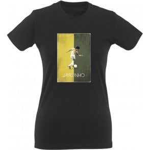 Jairzinho (Brazil) 70's Vintage Poster Womens Slim Fit T-Shirt