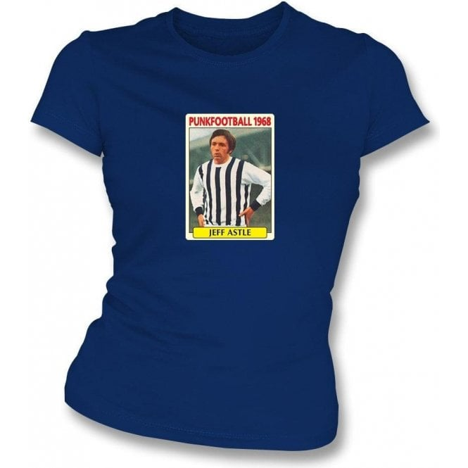 Jeff Astle 1968 (West Brom) Navy Women's Slimfit T-Shirt