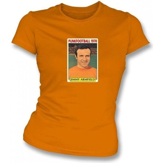 Jimmy Armfield 1970 (Blackpool) Orange Women's Slimfit T-Shirt