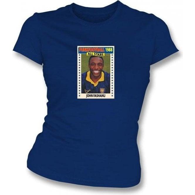 John Fashanu 1988 (AFC Wimbledon) Navy Women's Slimfit T-Shirt