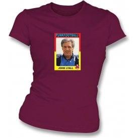 John Lyall 1988 (West Ham) Maroon Women's Slimfit T-Shirt