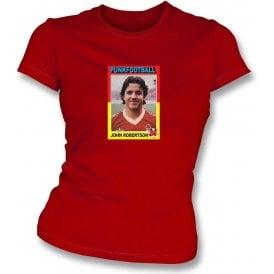John Robertson 1980 (Nottingham Forest) Womens Slimfit T-Shirt