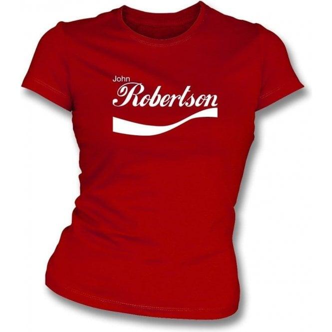 John Robertson (Nottingham Forest) Enjoy-Style Womens Slim Fit T-Shirt