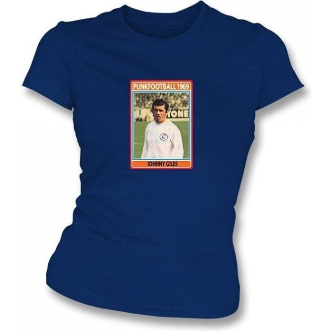 Johnny Giles 1969 (Leeds United) Navy Women's Slimfit T-Shirt