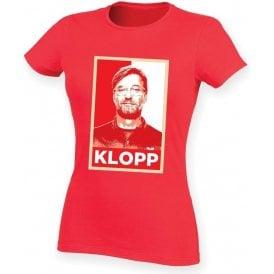 Jurgen Klopp - Hope Poster (Liverpool) Womens Slim Fit T-Shirt