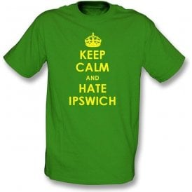 Keep Calm And Hate Ipswich T-shirt (Norwich City)