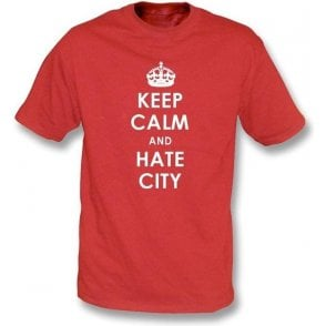 Keep Calm And Hate Man City T-Shirt (Man Utd)