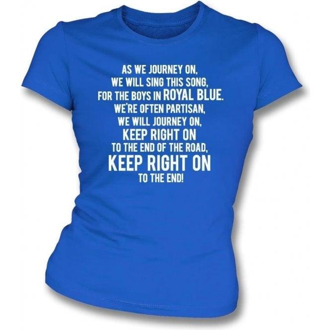 Keep Right On Womens Slim Fit T-Shirt (Birmingham City)
