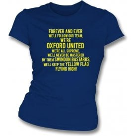 Keep The Yellow Flag Flying High (Oxford United) Womens Slim Fit T-Shirt