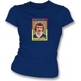 Kevin Beattie 1978 (Ipswich Town) Navy Women's Slimfit T-Shirt