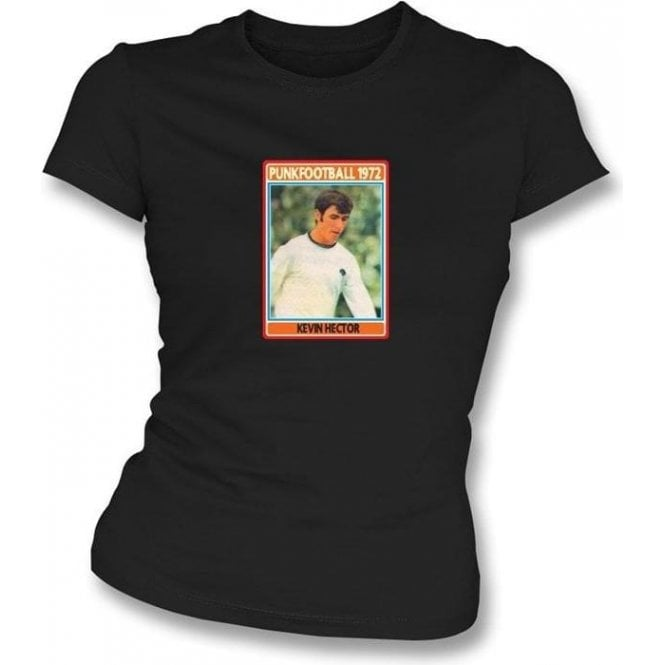 Kevin Hector 1972 (Derby County) Black Women's Slimfit T-Shirt