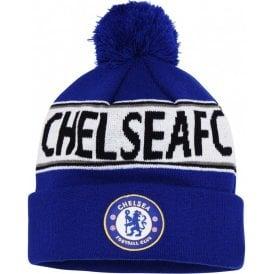 Kids Chelsea FC Text Beanie