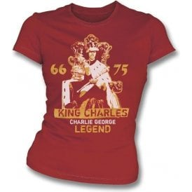 King Charles - Charlie George (Arsenal) Vintage Wash Girl's Slim-Fit T-shirt