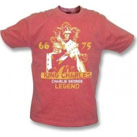 King Charles - Charlie George (Arsenal) Vintage Wash T-shirt