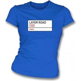 Layer Road CO2 (Colchester United) Womens Slimfit T-Shirt