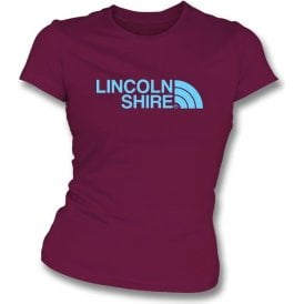 Lincolnshire (Scunthorpe United) Womens Slim Fit T-Shirt