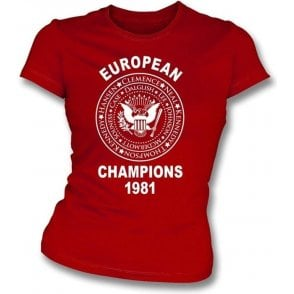 Liverpool European Champions 1981 Girl's Slim-Fit T-shirt