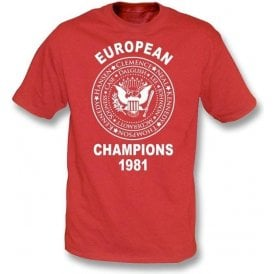 Liverpool European Champions 1981 T-shirt