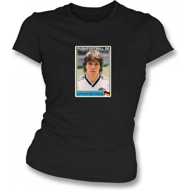Lothar Matthaus 1986 (Germany) Black Women's Slimfit T-Shirt