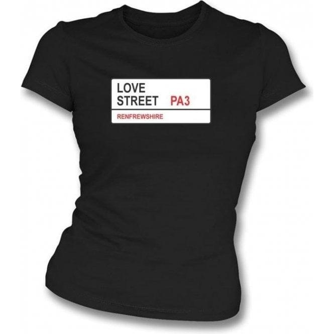 Love Street PA3 Women's Slimfit T-Shirt (St Mirren)