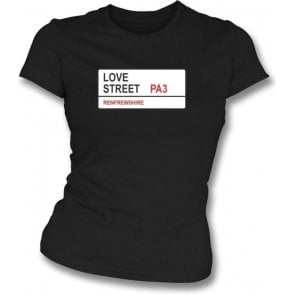 Love Street PA3 Women's Slimfit T-Shirt (St Mirren)